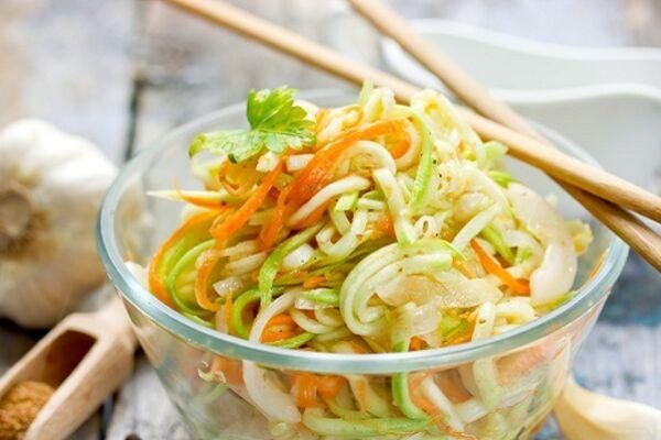 Салат із кабачків по-корейськи