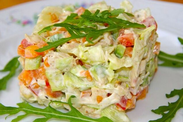Салат із авокадо і курки