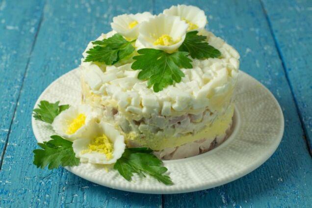 Шаровий салат із печінки