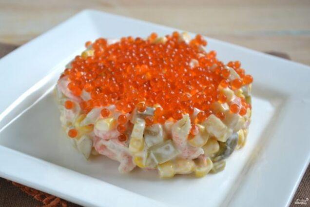 Салат із кальмарами