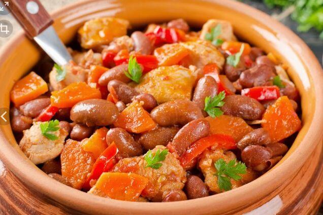 Овочеве рагу з квасолею