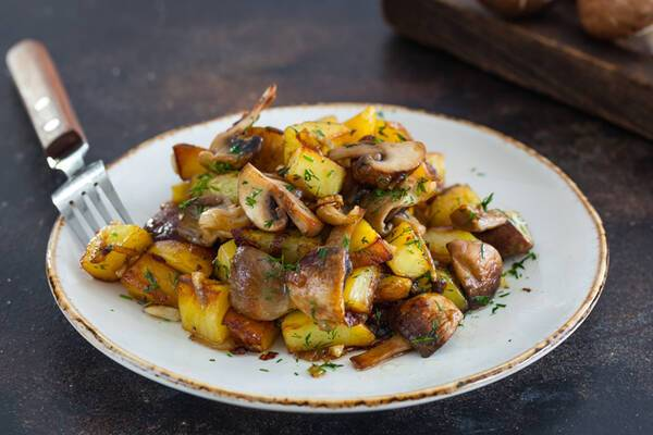 Печеня з грибами