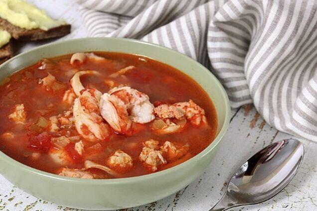 Суп рибалки з креветками