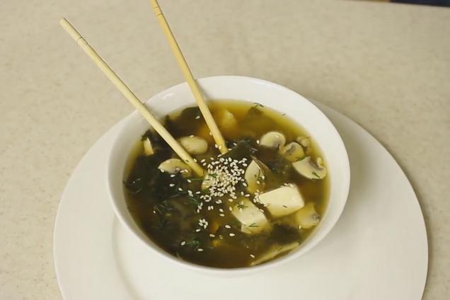 Мисо суп с говядиной