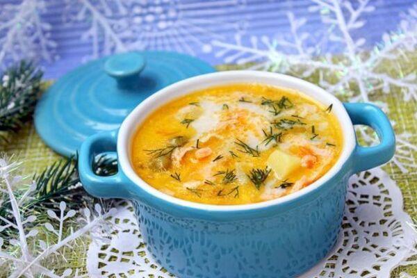 Молочний суп з рибою
