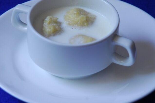 Молочний суп із картопляними кульками