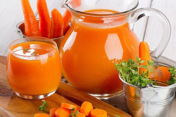 Морквяний сік із цукром