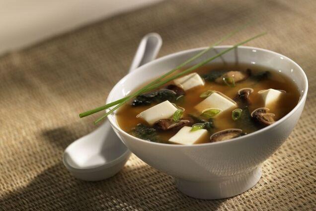 Мисо суп с соевым соусом