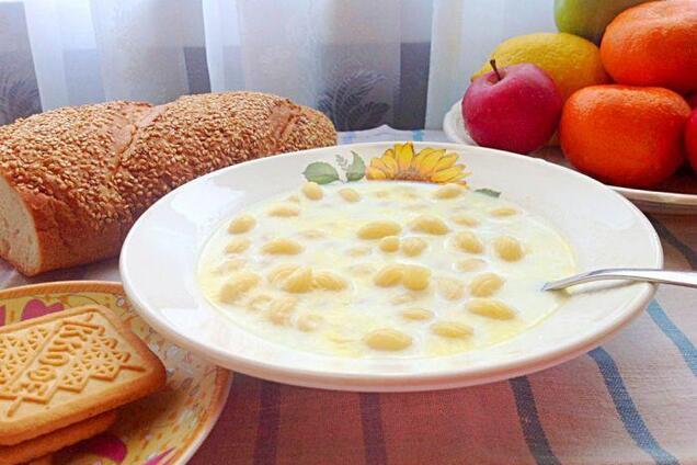 Молочный суп по ГОСТу
