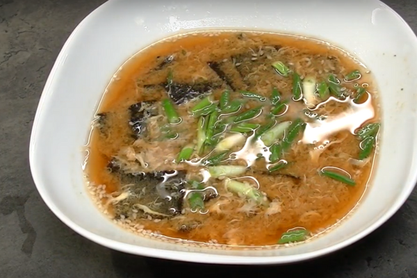 Місо-суп з яйцем