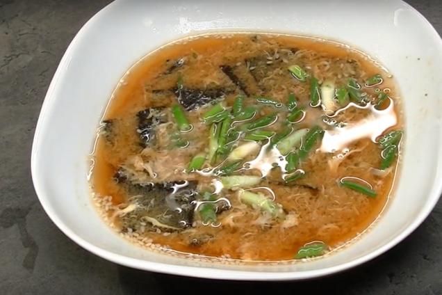 Мисо суп с яйцом