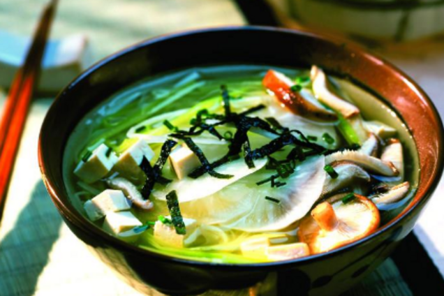 Мисо-суп на рыбном бульоне