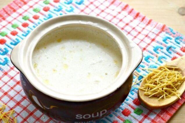 Молочний суп на розведеному молоці