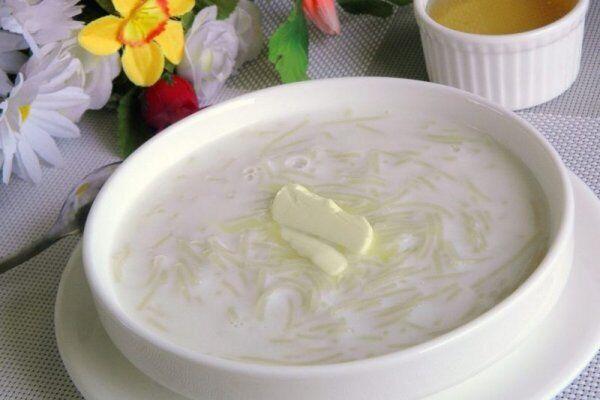 Молочний суп із вермішеллю ''Павутинка''