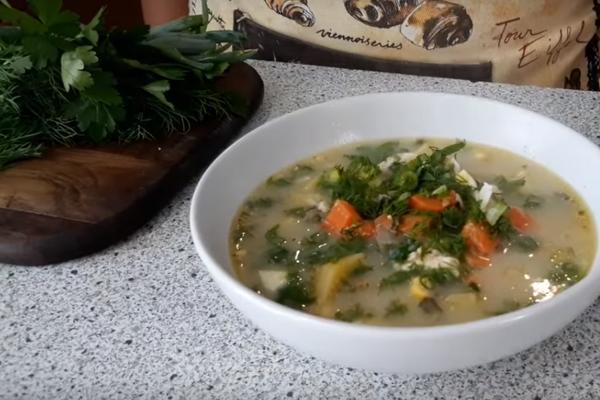 Молочний суп зі щавлем