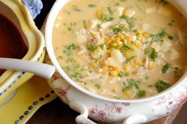 Молочний суп з індичкою