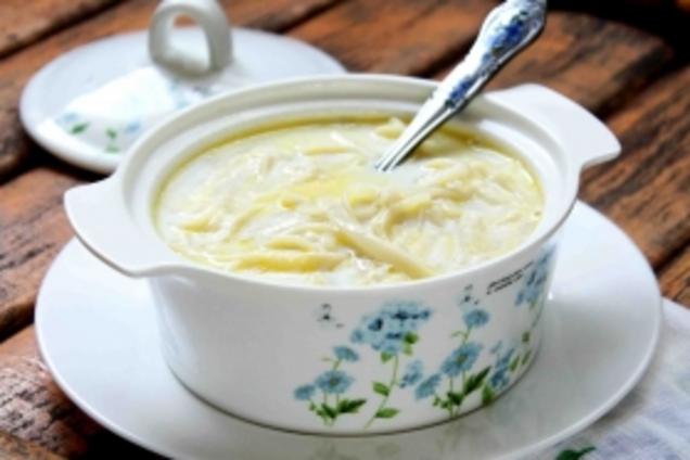 Сладкий молочный суп