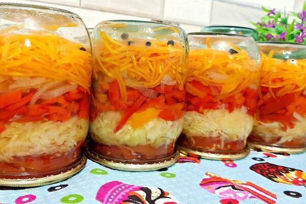 Лінивий салат на зиму