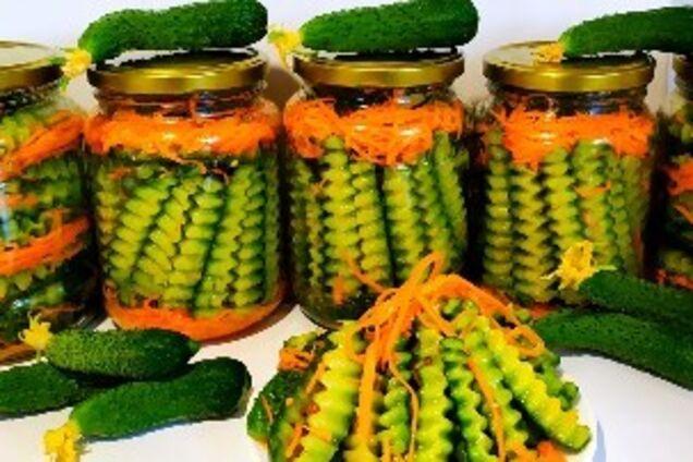 Огірки по-корейськи на зиму