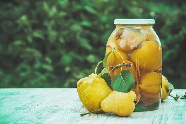 Грушевый компот с лимонной кислотой
