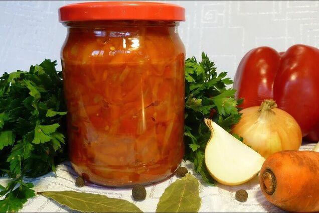 Салат із болгарського перцю і моркви