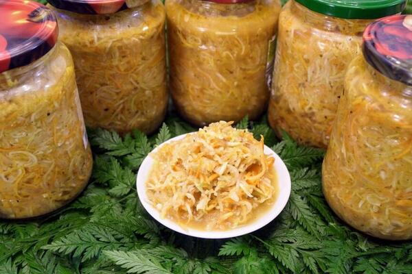 Салат із кабачків і перцю