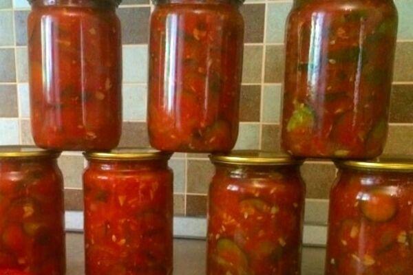 Салат из помидоров без стерилизации
