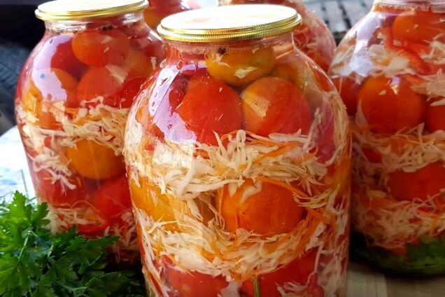 Салат із цілих помідорів
