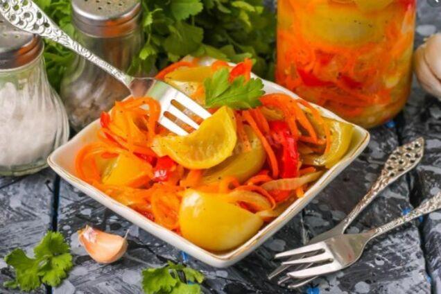 Овочевий салат з гірчицею