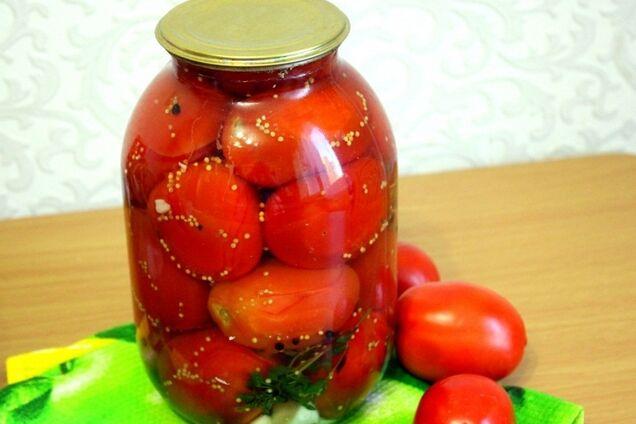 Мариновані помідори з гірчицею