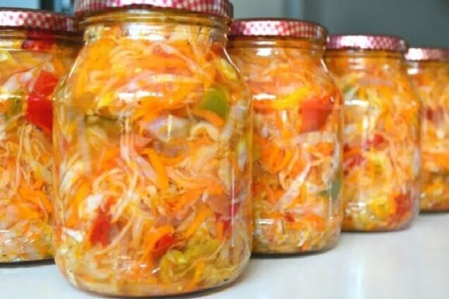 Овощной салат с кориандром