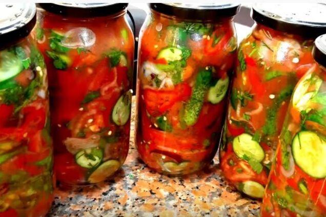 Салат з огірками і болгарським перцем