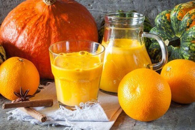 Тыквенно-цитрусовый сок