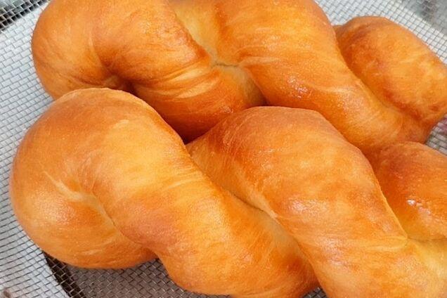 Витые пончики на дрожжах