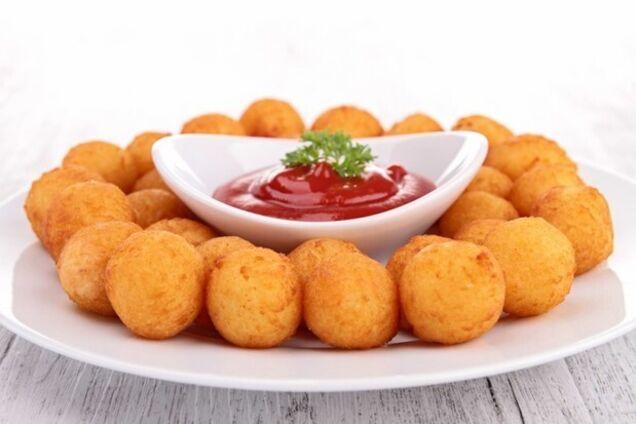 Картопляні пончики із сиром