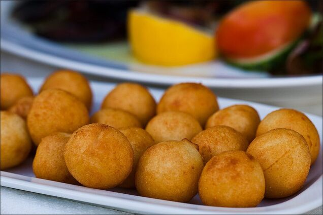 Ленивые картофельные пончики
