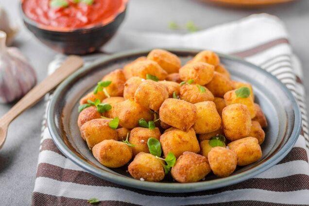Картофельные мини-пончики