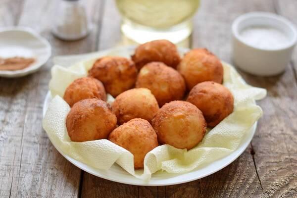 Картофельные пончики на отваре