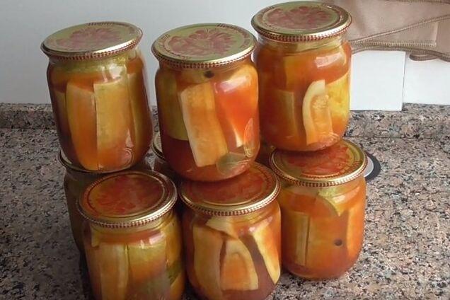 Маринованные кабачки с кетчупом ''чили''