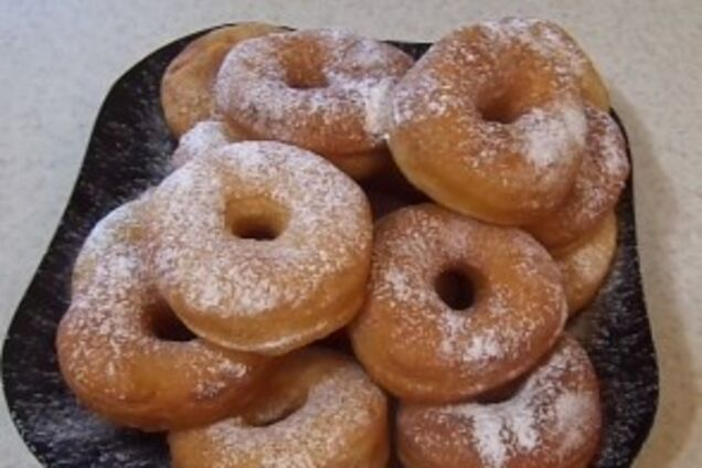 Дрожжевые пончики на водке