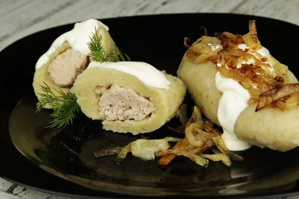 Цеппелины из вареного картофеля