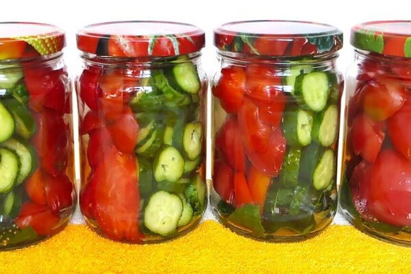 Овочевий салат ''Полосатики''