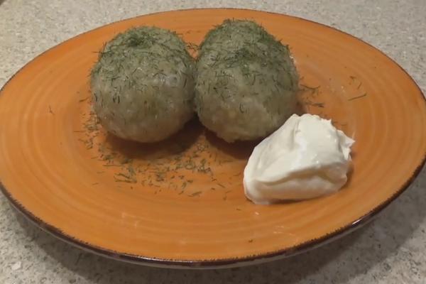 Цеппелины с сырым картофелем