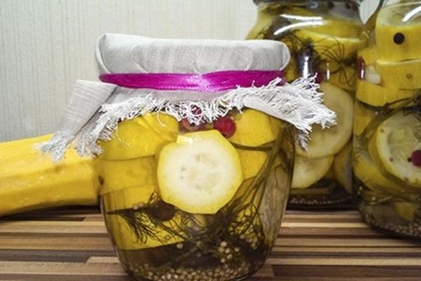 Маринованные кабачки с лимоном