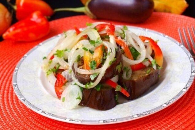 Квашеные баклажаны с помидорами