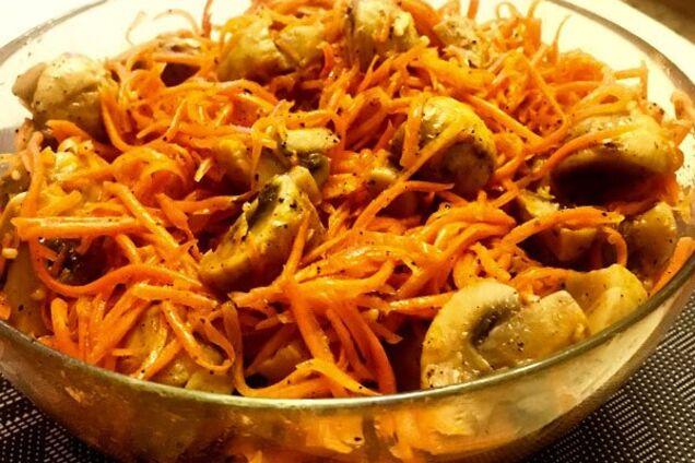 Грибы с морковью и чесноком