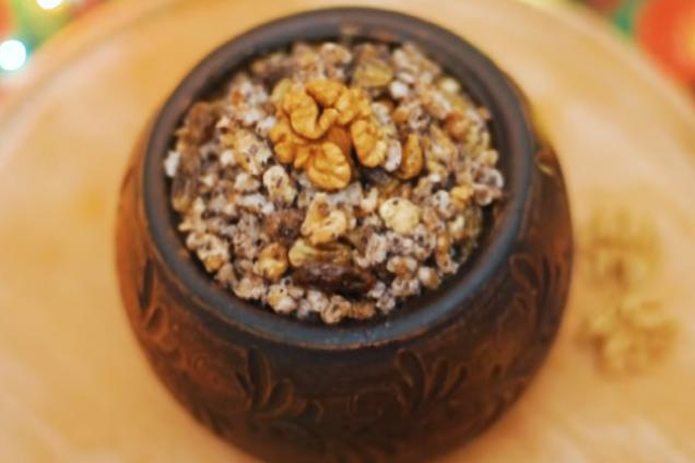 Пшеничная кутья с маком и орехами