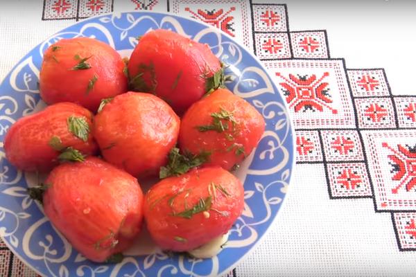 Квашеные помидоры без кожицы