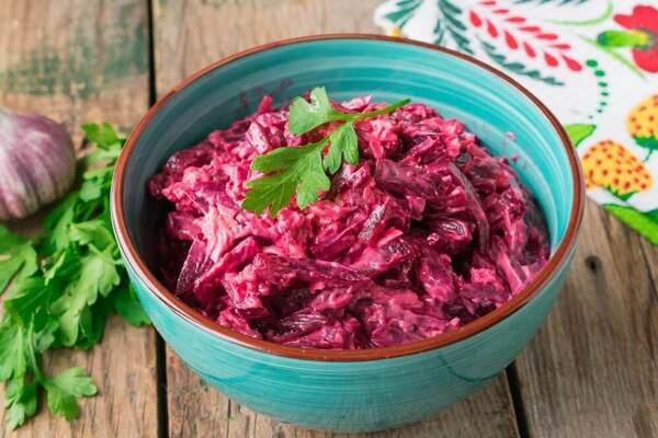 Свекольный салат без стерилизации