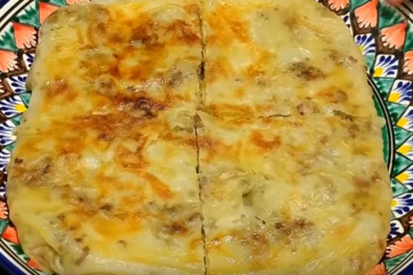 Узбекская катлама с мясом